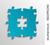 puzzle eight piece business... | Shutterstock .eps vector #583390240