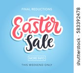 easter sale banner template... | Shutterstock .eps vector #583392478