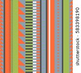 vertical striped vintage style... | Shutterstock .eps vector #583398190
