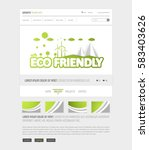 eco website interface template  ...