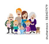 vector illustration of happy... | Shutterstock .eps vector #583407979