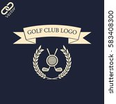 golf club logo | Shutterstock .eps vector #583408300