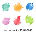 watercolor spots set. realistic ... | Shutterstock .eps vector #583408840