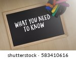 what you need to know words... | Shutterstock . vector #583410616
