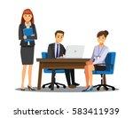 business people teamwork ... | Shutterstock .eps vector #583411939