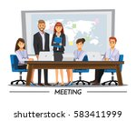 business people teamwork ... | Shutterstock .eps vector #583411999