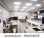spacious and bright modern... | Shutterstock . vector #583416070