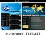 2 website design templates easy ... | Shutterstock .eps vector #58341685