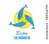 summer travel logo | Shutterstock .eps vector #583418794