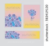 spring blossom invitation card... | Shutterstock .eps vector #583419130
