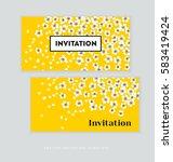 spring blossom invitation card... | Shutterstock .eps vector #583419424