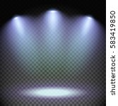 set of stage illuminated by... | Shutterstock .eps vector #583419850