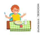 vector illustration of happy... | Shutterstock .eps vector #583424344