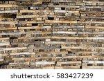 log wooden texture | Shutterstock . vector #583427239