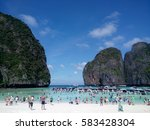 many people and speed boats at... | Shutterstock . vector #583428304