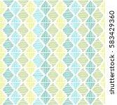 hand drawn geometric seamless... | Shutterstock .eps vector #583429360