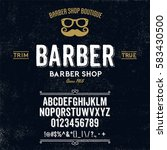 typeface. label. barber shop... | Shutterstock .eps vector #583430500