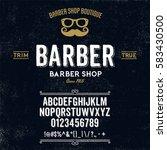 typeface. label. barber shop... | Shutterstock .eps vector #583430500