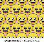 smile face pattern with... | Shutterstock .eps vector #583437718