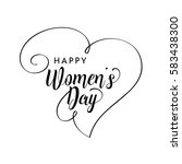 happy women's day greeting card.... | Shutterstock .eps vector #583438300