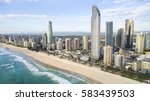 aerial view of gold coast... | Shutterstock . vector #583439503