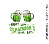 vector illustration of happy... | Shutterstock .eps vector #583444750