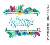 design banner with  happy... | Shutterstock .eps vector #583444780