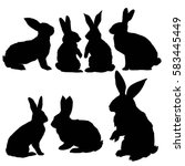 rabbit animal  vector ... | Shutterstock .eps vector #583445449