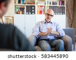 therapy session  adult man... | Shutterstock . vector #583445890