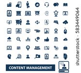 content management icons | Shutterstock .eps vector #583449064