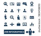 job infographics icons  | Shutterstock .eps vector #583458850