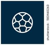 soccer ball vector icon | Shutterstock .eps vector #583460263