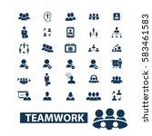 teamwork icons | Shutterstock .eps vector #583461583