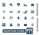 tax icons | Shutterstock .eps vector #583461610