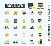 big data icons | Shutterstock .eps vector #583461649