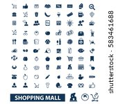 shopping mall icons | Shutterstock .eps vector #583461688