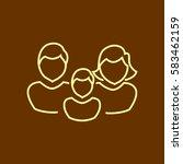 family icon flat. | Shutterstock .eps vector #583462159