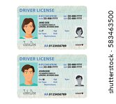 vector man and woman driver... | Shutterstock .eps vector #583463500