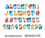 psychedelic font with colorful... | Shutterstock .eps vector #583465159