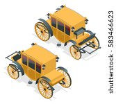 isometric retro coaches ... | Shutterstock .eps vector #583466623