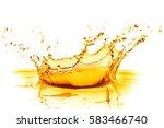 orange juice splash isolated on ... | Shutterstock . vector #583466740