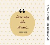 Creative Quote Bubble On The...