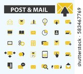 post mail icons | Shutterstock .eps vector #583467769