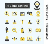 recruitment icons | Shutterstock .eps vector #583467826