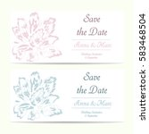 set of wedding invitations | Shutterstock .eps vector #583468504