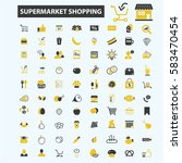 supermarket shopping icons | Shutterstock .eps vector #583470454
