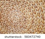 natural woven straw background | Shutterstock . vector #583472740