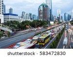 rush hour along gatot subroto... | Shutterstock . vector #583472830