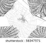 illustration with spider web...   Shutterstock .eps vector #58347571