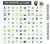 hospital clinic icons | Shutterstock .eps vector #583476400